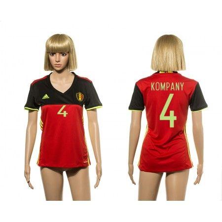 Belgien Fotbollskläder Kvinnor 2016 #Kompany 4 Hemmatröja Kortärmad,259,28KR,shirtshopservice@gmail.com