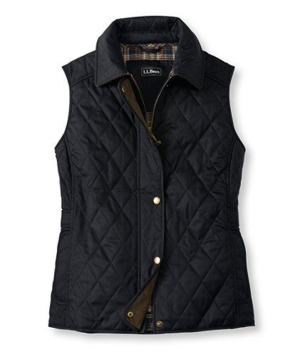 Quilted Riding Vest - I have this vest in purple - love it!  Will order the black one in the fall.