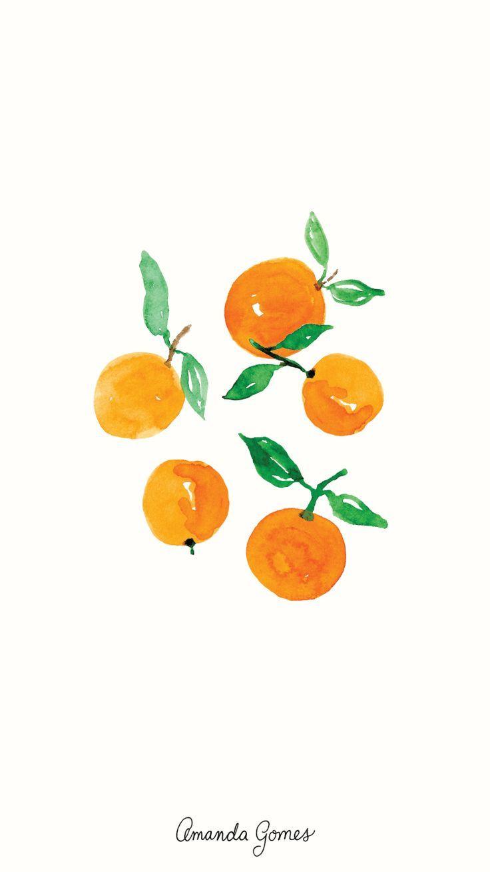 Watercolor Oranges Can T Get Enough Watercolor Illustration