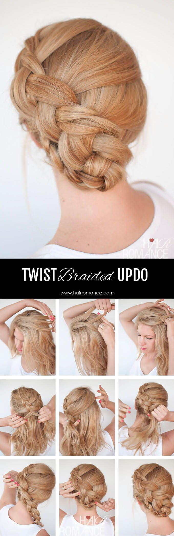 Hair Romance - Twist braid hairstyle tutorial 5