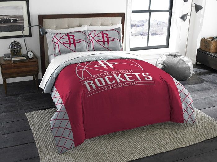 Houston Rockets NBA Reverse Slam Full-Queen Comforter Set. Incudes 2 Shams and Comforter. Visit SportsFansPlus.com for Details.