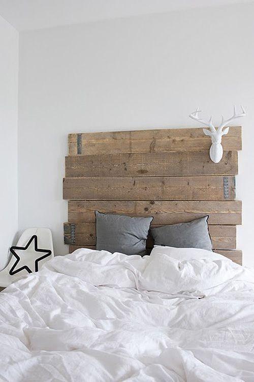 wood headboard