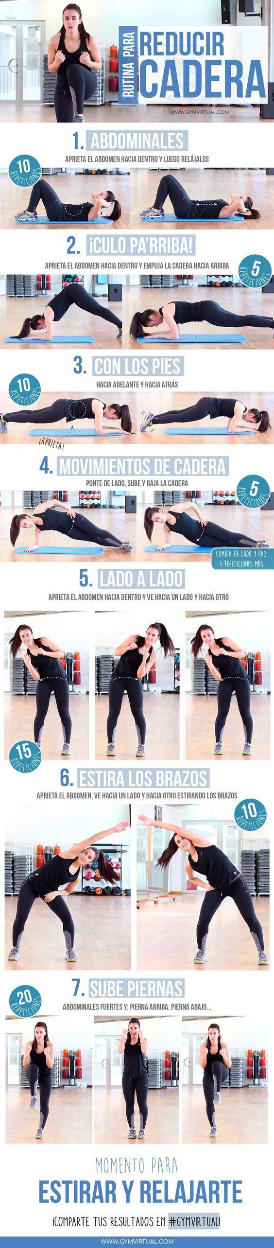 Rutina para Reducir Cadera - Hips