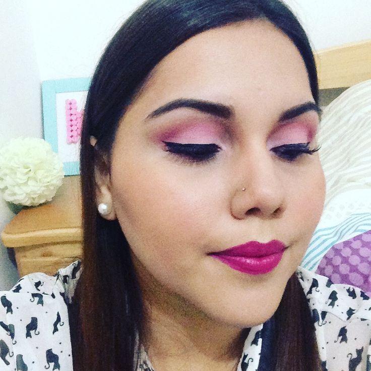 Maquillaje en tonos rosas