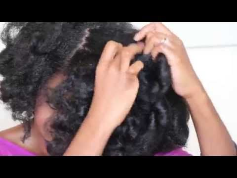 Natural Hair Heatless Roller Set with Lottabody - YouTube