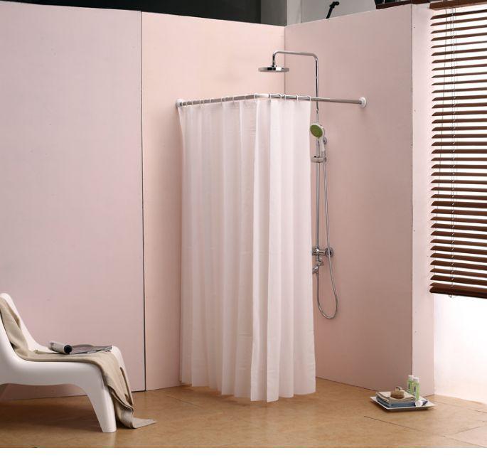 Best 25+ Corner shower curtain rod ideas on Pinterest | Shower ...