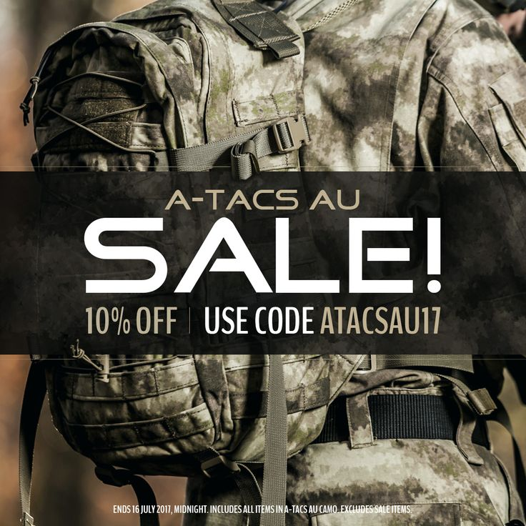 Military 1st A-TACS AU camo Sale is on! Get 10% off all tactical clothing and combat gear in A-TACS AU camouflage with Discount Code ATACSAU17. Visit our website now - offer ends 16 July 2017, midnight. Excludes sale items. Free UK delivery and returns! Free shipping to the United States and Ireland. Competitive overseas shipping rates.