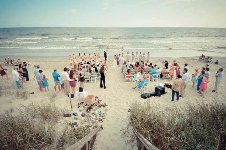 Beach wedding ceremony | Details & Inspiration from a North Carolina Beach Wedding | Images: Bryce LaFoon Photography