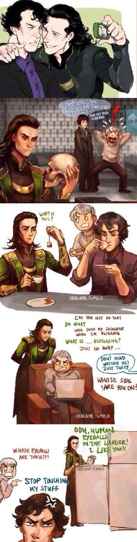 Loki meets Sherlock and Jawn