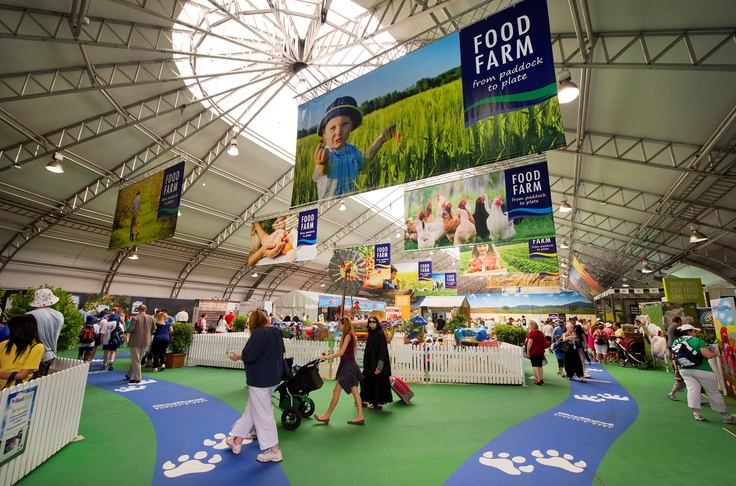 The food farm at the 2012 Sydney Royal Easter Show
