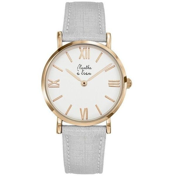 Women Designer Watches White Leather Bracelet Menthe A l'Eau ($130) ❤ liked on Polyvore featuring jewelry, watches, leather wrist watch, leather watches, white watches, white wrist watch and leather jewelry