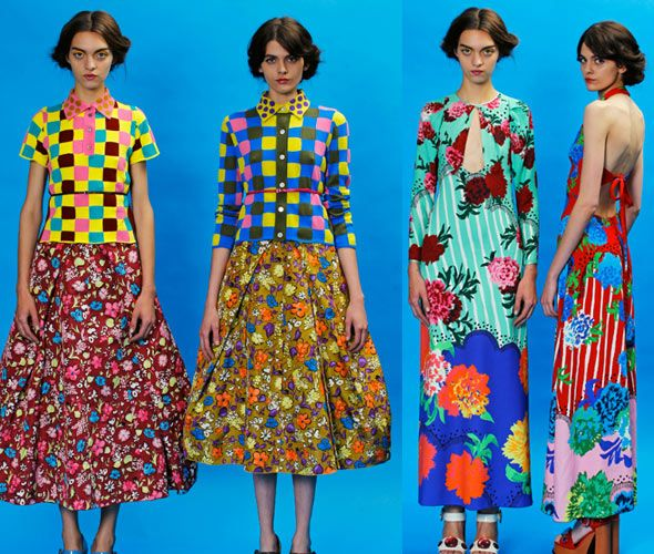 Resort 13-Marc JacobsFashion, Style, Pattern Mixed, Marcjacobs, Marc Jacobs, Resorts 2013, Jacobs Resorts, Prints, Floral Pattern