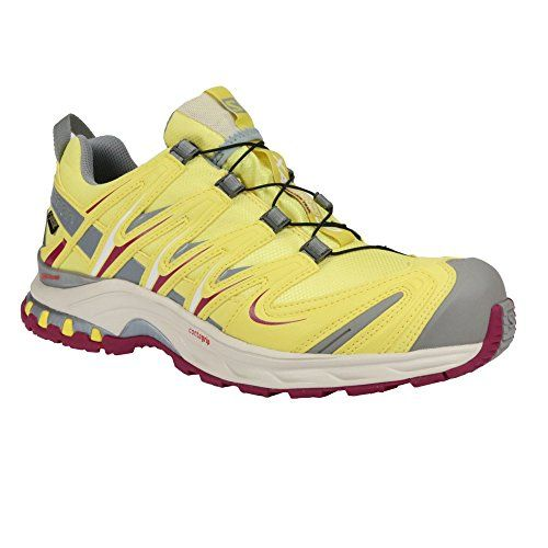 Salomon Damen Trail Running Schuhe XA Pro 3D GTX W Citrus-X/Light Grey-/Mystic Purple 40 2/3