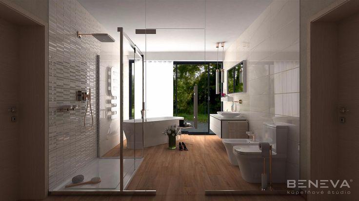VIZUALIZÁCIA KÚPEĽNE - 3D návrh a projekt kúpeľne / BENEVA