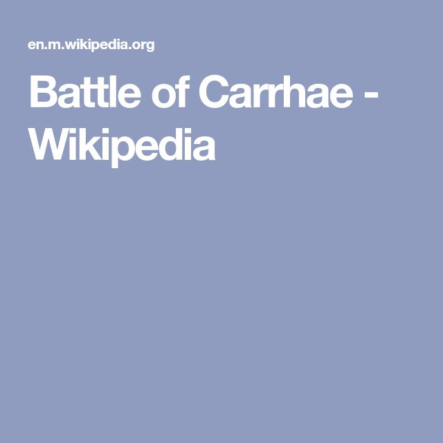 Battle of Carrhae - Wikipedia