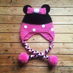Bonnet Minnie tuto crochet facile                                                                                                                                                                                 Plus