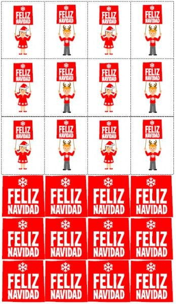 FREE Spanish Christmas Party Printables from Love Party Printables   Catch My Party