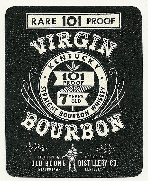 Virgin kentucky bourbon whiskey label hg pinterest for Classic house labels