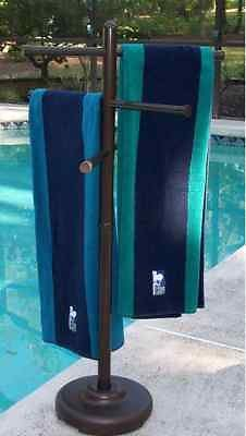 Outdoor Portable Towel Rack Pool Patio Spa Yard | eBay