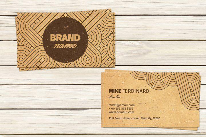 Retro Business Card 250180 Business Cards Design Bundles In 2021 Retro Business Card Artist Business Cards Business Card Design