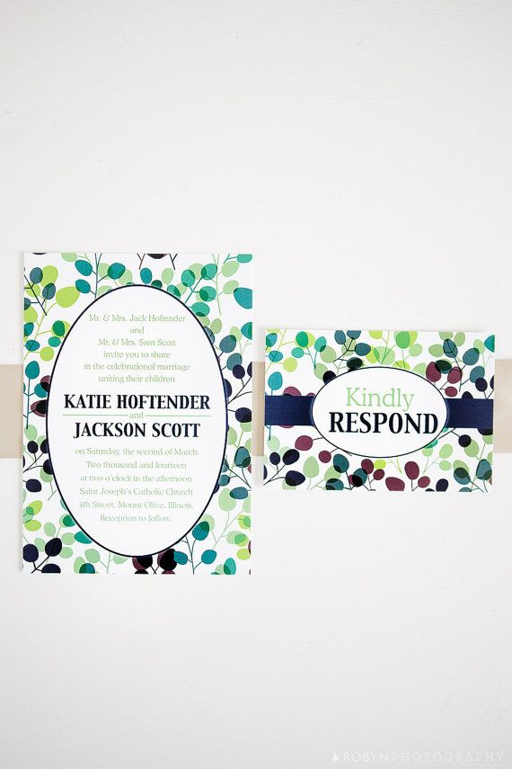 proper response time for wedding rsvp%0A Very Viney Wedding Invitation  This invitation is great for the outdoor  garden wedding with its
