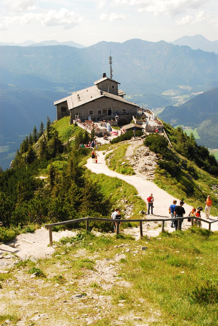 """Hitler's """"Eagles Nest"""" above Berchtesgaden, Germany.  So scary getting here!  After you traveled up a very narrow one way road up the mountain, the was a pure gold elevator that would ate u to the top.  This was built for Hitler and he was afraid of heights!!  No wonder!!  I would never go back but it was a truly  a ' been there, done that' moment I would not trade."""