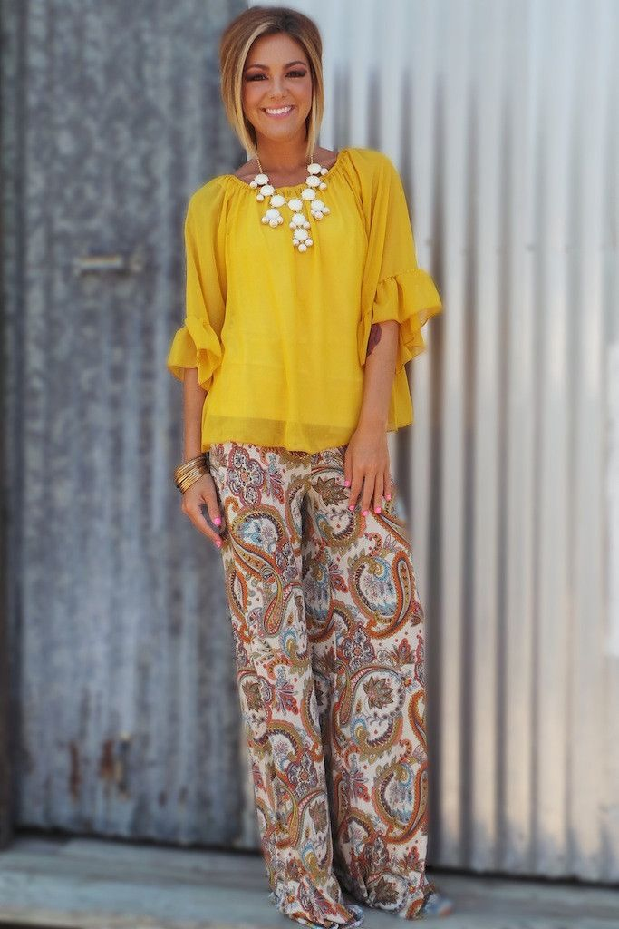 lovely formal palazzo pants outfit