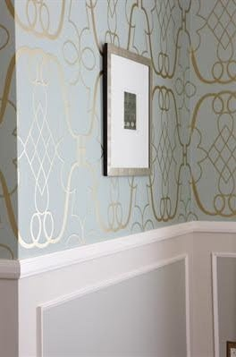 7 best images about chair rail ideas on pinterest for Best wallpapers for dining rooms