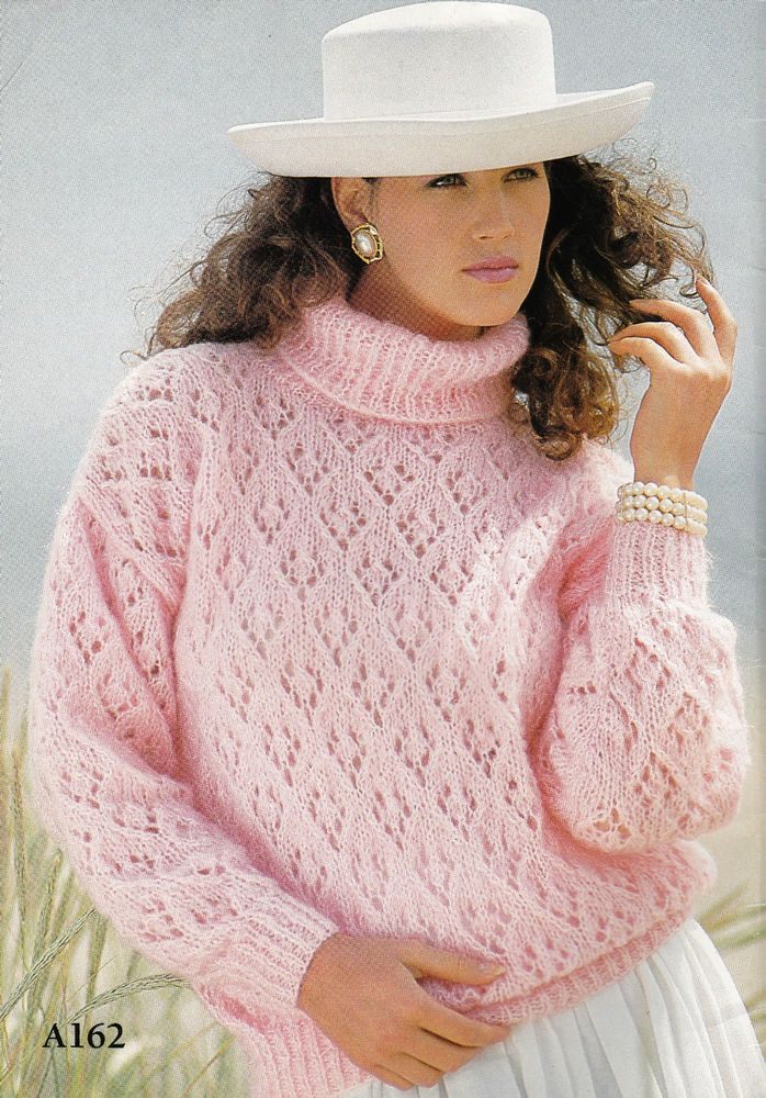 Vintage Knitting Pattern Instructions to Make a Ladies Jumper in 5 Sizes