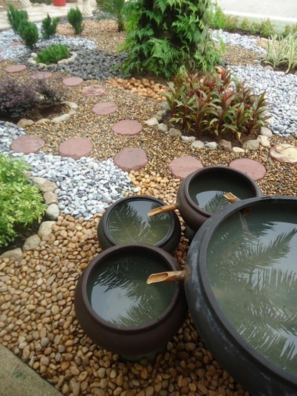 idée de jardin rocaille zen