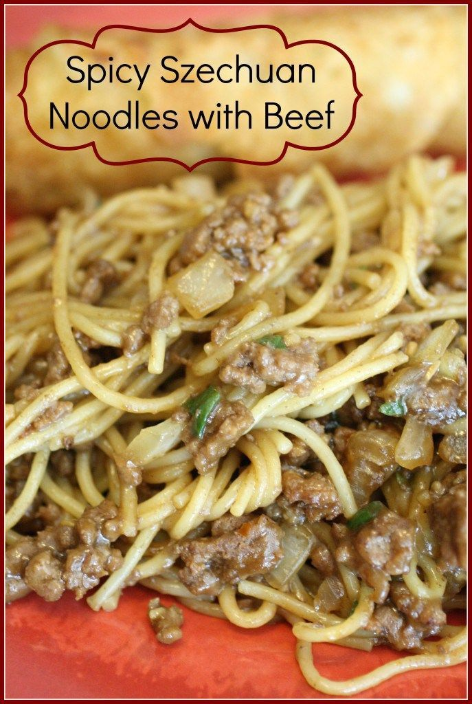 Spicy Szechuan Noodles with Beef - Detours in Life