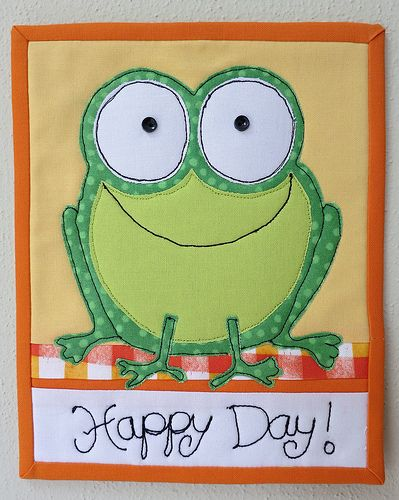 Have a Happy Day! | Mug Rug 6 1/2 x 8 inches, inspired by a … | Flickr