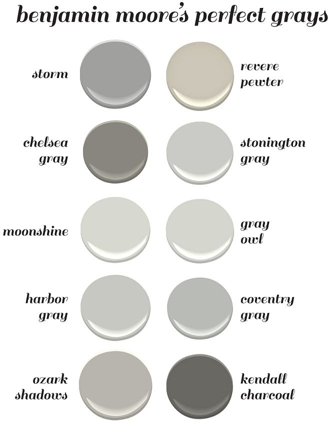 Benjamin Moore's Perfect Gray Paint Colors. Benjamin Moore Storm. Benjamin Moore… More