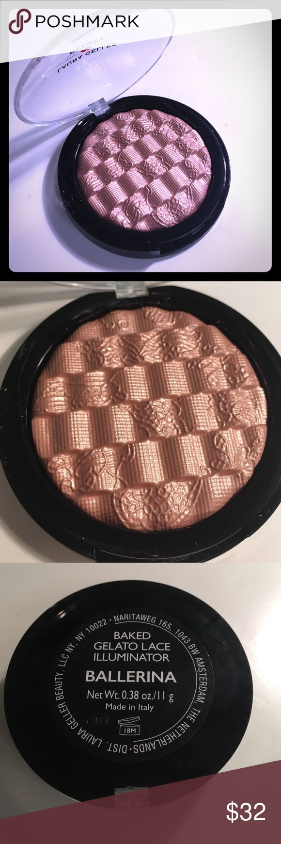 Laura geller ballerina highlighter Double the size of the original highlighter. This is like gilded honey, but has a pink beige undertone instead of gold. Brand new. laura geller Makeup Luminizer