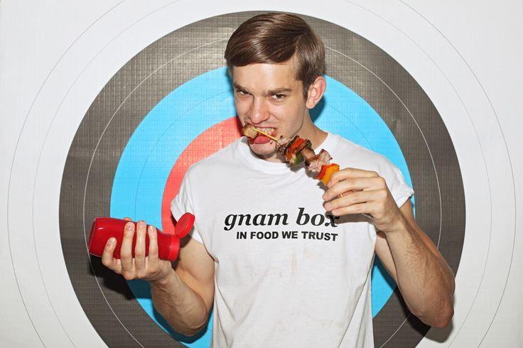 beef pepperoni skewers... my passion!  thomas isermann @Independent Men Milano