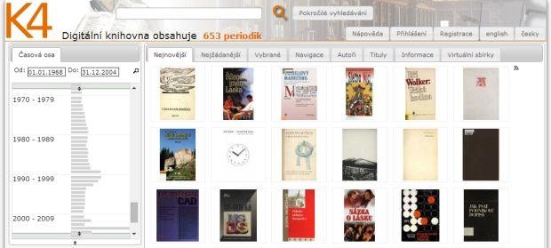 Vstup do digitální knihovny NDK