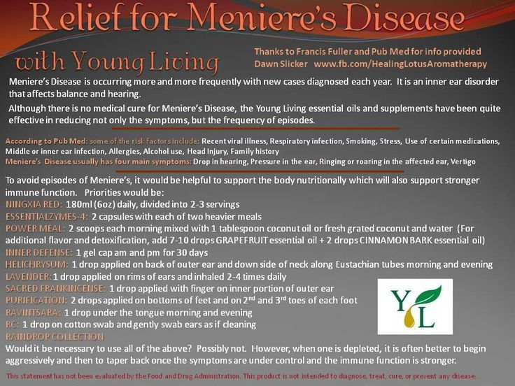 Relief for Meniere's Disease - Meniere's disease is occurring more frequently. It is an inner ear disorder that affects balance and hearing. YL oils have been effective in reducing the symptoms and frequency of episodes.