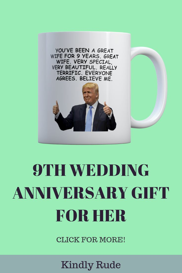 9th anniversary trump funny gift mug for women