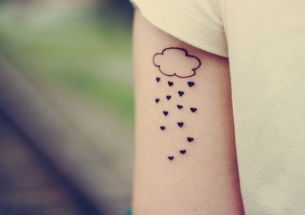 simple rain cloud tattoo - 40 Awesome Cloud Tattoo Designs  <3 <3