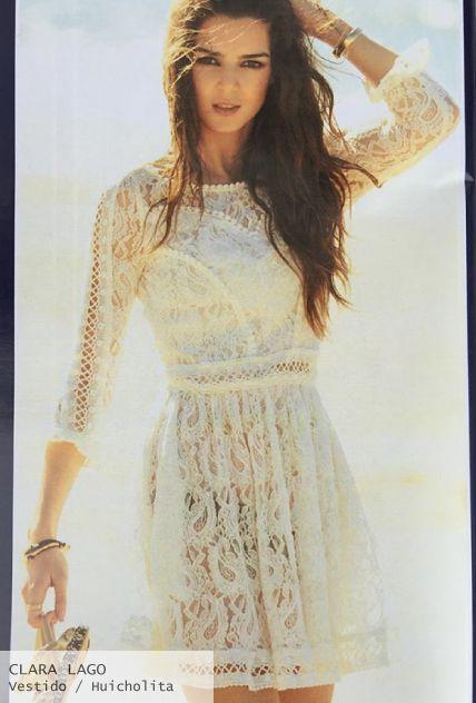 Clara lago look con vestido de encaje crudo- Highly Preppy