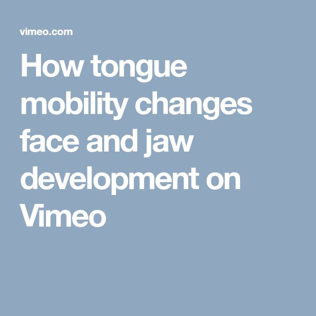 """How tongue mobility changes face and jaw development on Vimeo dx.doi.org/10.1111/ocr.12206 Yoon et al. """"Ankyloglossia as a risk factor for maxillary hypoplasia and soft palate elongation: A functional – morphological study"""". Orthodontics and Craniofacial Research (2018). doi: 10.1111/ocr.12206"""