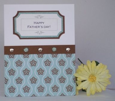This classy handmade Father's Day card uses brads instead of ribbon for a more masculine look.