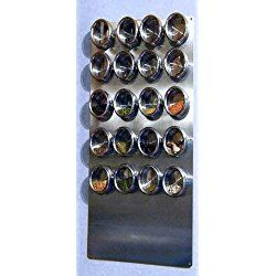 """Spice Tin Wall Base, Stainless 12"""" X 24"""" for Magnetic Spice Tins"""