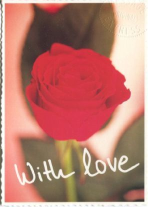 Message Express Postcard, With Love (Rose)