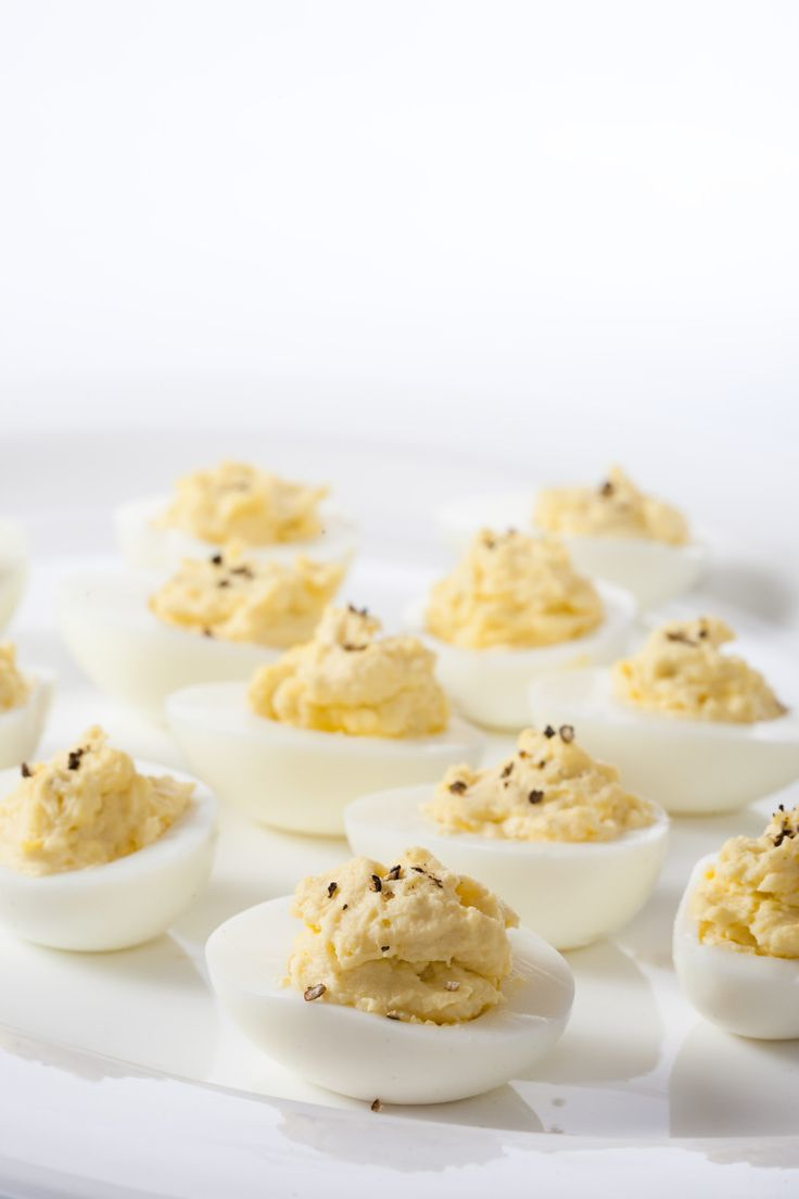 Devilled eggs with Dijon and cracked pepper. In our opinion, there's no dish as simple and classic–or delicious–as the devilled egg. It's the quintessential treat for every gathering, big or small.