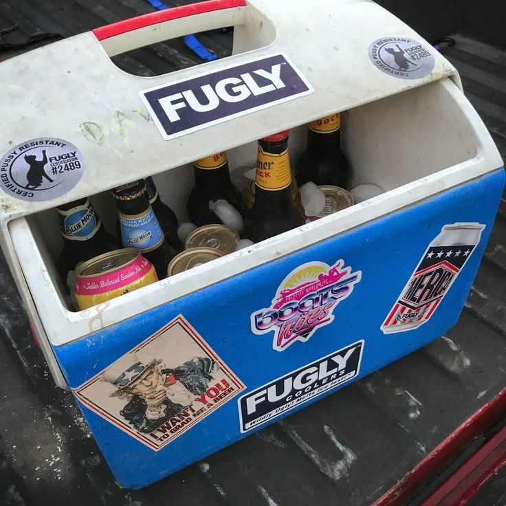Weekends are for getting Fugly!  Slap a sticker on your old cooler today!  🔥www.LStarSigns.com🔥 #fuglycooler #fuglycoolers #icechest #fuglyshit #letsgetfugly #cooler #coolers #notayeti #meltsicefast #wildlyugly #beerlover #beerpong #beer #yeti #rtic #coleman #ziegenbock #rubbermaid #fishing #hunting #yetibutts #texas #beerfest #weekendsareforgettingfugly #camping #greatoutdoors #bearproof #beergauge #lonestarsigns #lonestararmy