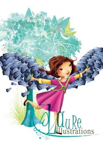 Kimberly avec ses ailes de fées