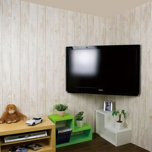 スマートなコーナーへの壁掛けテレビ