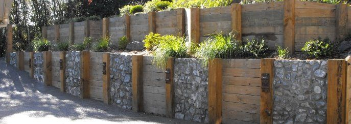Landscape timber tractor planter retaining wall blocks nz
