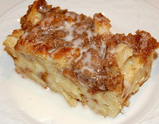 Baked French Toast recipe - suppose to be incredible!    Ingredients:  1 loaf sourdough bread (I used Pepperidge Farm)  8 eggs  2 cups milk (I used 1%)  1/2 cup heavy cream  3/4 cup sugar  2 Tbsp. vanilla    Topping:  1/2 cup all-purpose flour  1/2 cup packed brown sugar  1 tsp. cinnamon  1/4 tsp. salt  1 stick cold butter, cut into pieces    1.  G